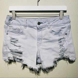 American Eagle Midi Distressed Shorts | Size 10